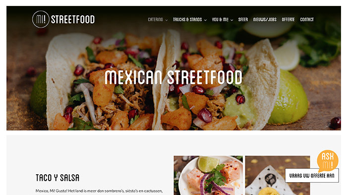 Webdesign bureau Antwerpen Mi Streetfood