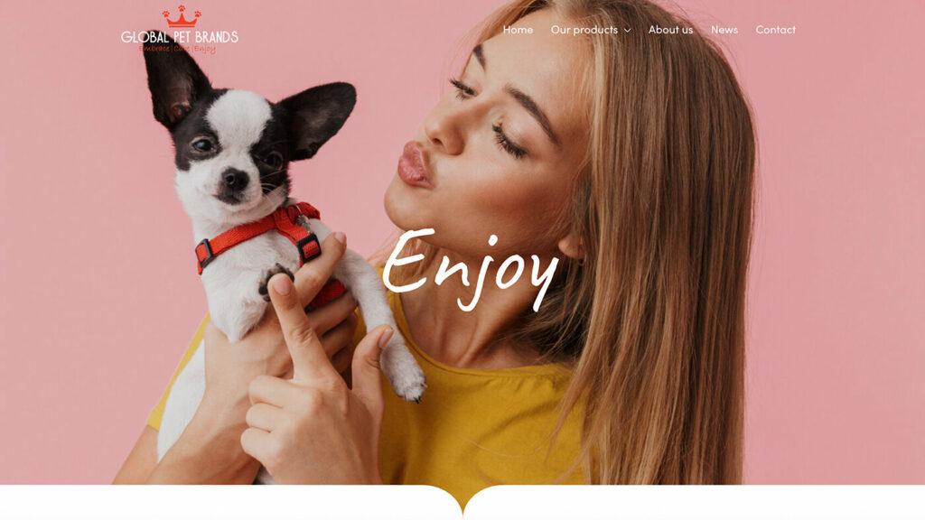 Webdesign bureau Global Pet Brands